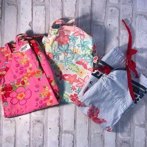 Three Summer Dresses Tommy Osh Kosh Gymbo Sz 3T
